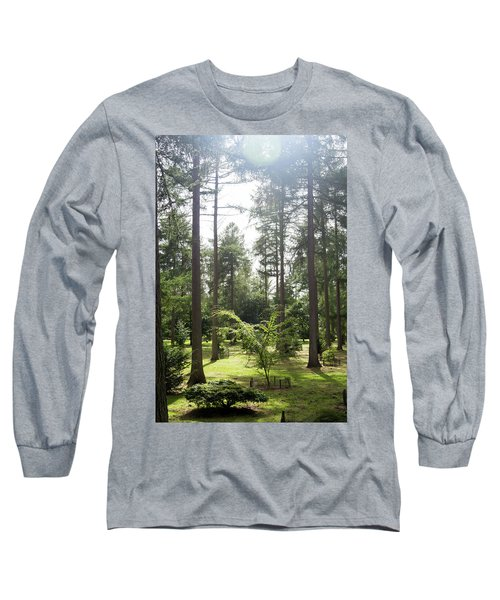 Long Sleeve T-Shirt featuring the photograph Sunlight Through The Trees by Scott Lyons