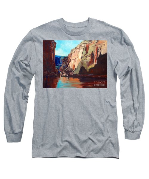 Sunny Morning On The Mighty Colorado Long Sleeve T-Shirt