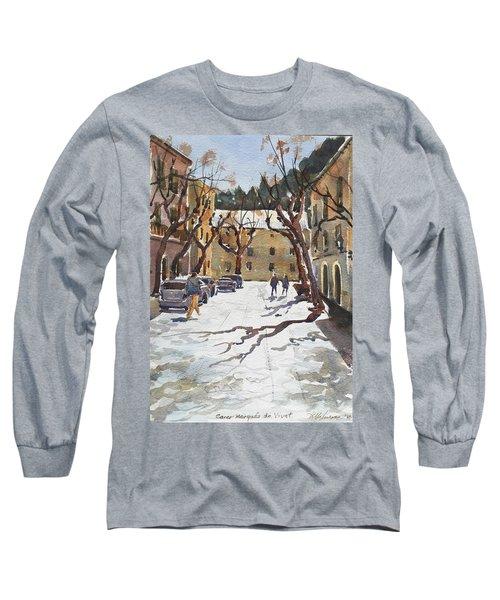 Sunny Street, Valledemossa Long Sleeve T-Shirt