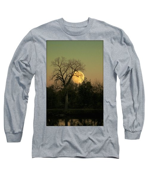 Long Sleeve T-Shirt featuring the photograph November Supermoon  by Chris Berry
