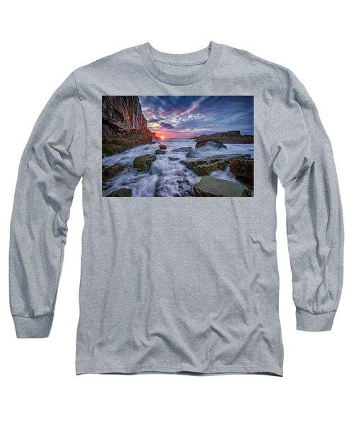 Sunrise At Bald Head Cliff Long Sleeve T-Shirt by Rick Berk