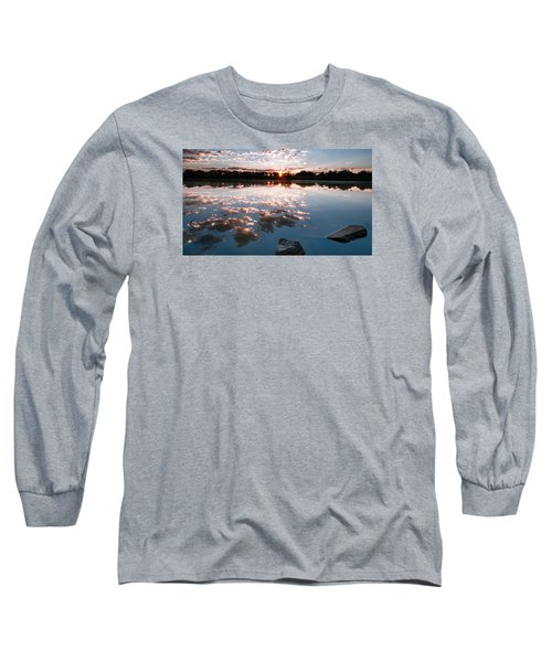 Long Sleeve T-Shirt featuring the photograph Sunrise At Cattails Chorus Ponds by Monte Stevens