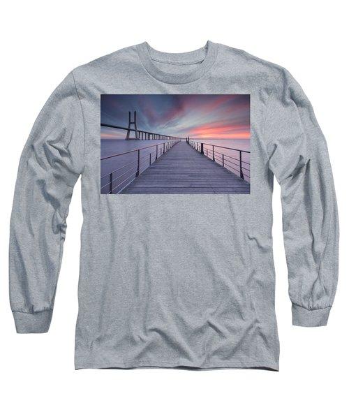 sunrise at Lisbon Bridge Long Sleeve T-Shirt