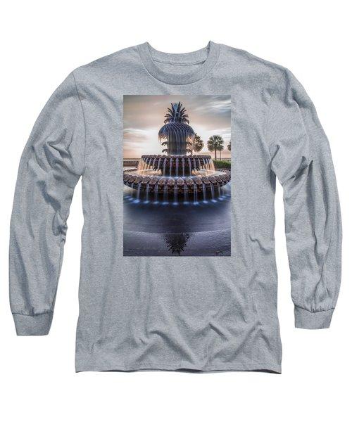 Sunrise At Pineapple Fountain Charleston Long Sleeve T-Shirt