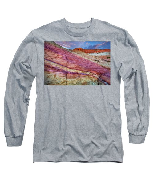 Long Sleeve T-Shirt featuring the photograph Sunrise At Rainbow Rock by Darren White