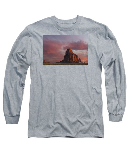 Long Sleeve T-Shirt featuring the photograph Sunrise At Shiprock New Mexico by Keith Kapple
