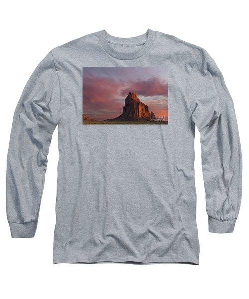Sunrise At Shiprock New Mexico Long Sleeve T-Shirt