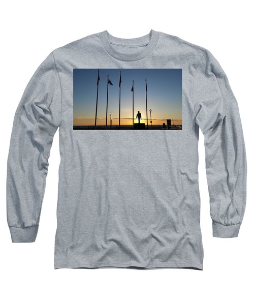 Sunrise At The Firefighters Memorial Long Sleeve T-Shirt