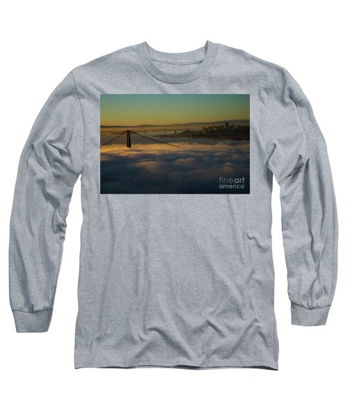 Long Sleeve T-Shirt featuring the photograph Sunrise At The Golden Gate by David Bearden