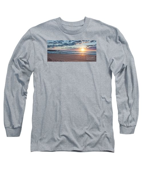 Sunrise At The Outer Banks Long Sleeve T-Shirt by Laurinda Bowling