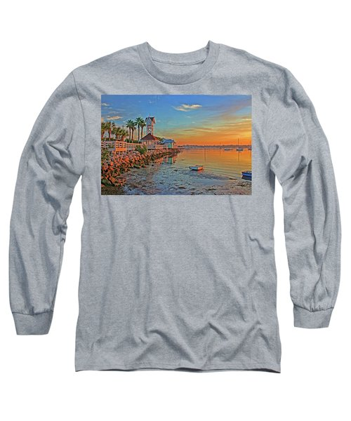 Sunrise At The Pier Long Sleeve T-Shirt