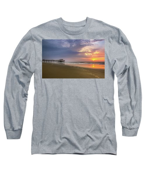 Sunrise At Tybee Island Pier Long Sleeve T-Shirt