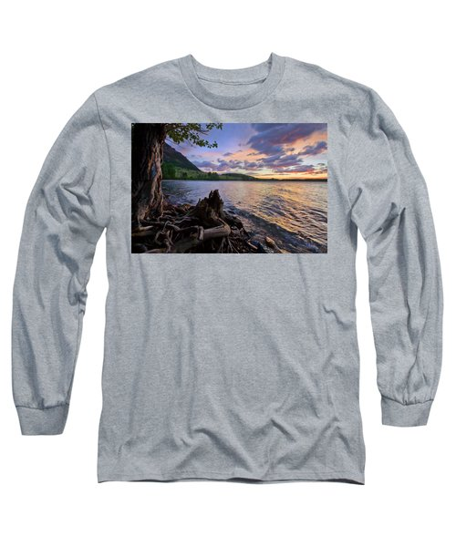 Sunrise At Waterton Lakes Long Sleeve T-Shirt