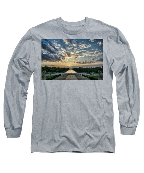 Sunrise From The Steps Of The Lincoln Memorial In Washington, Dc  Long Sleeve T-Shirt