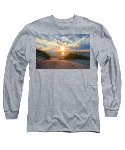 Sunrise In South Nags Head Long Sleeve T-Shirt