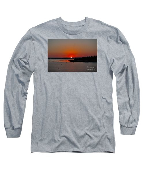 Long Sleeve T-Shirt featuring the photograph Sunrise On Lake Ray Hubbard by Diana Mary Sharpton