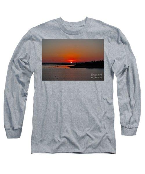 Sunrise On Lake Ray Hubbard Long Sleeve T-Shirt