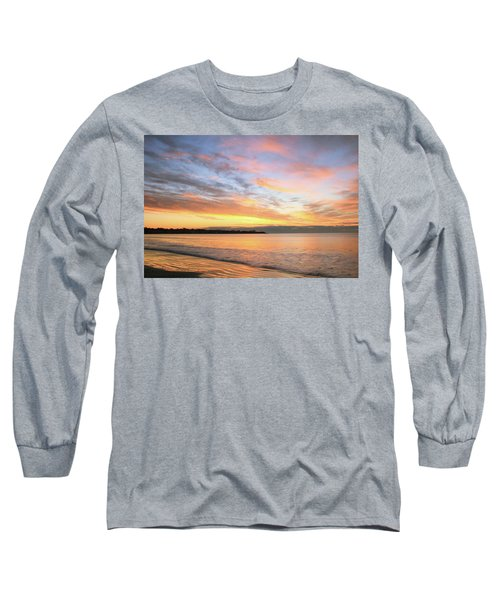 Long Sleeve T-Shirt featuring the photograph Sunrise On Middletown Rhode Island by Roupen  Baker