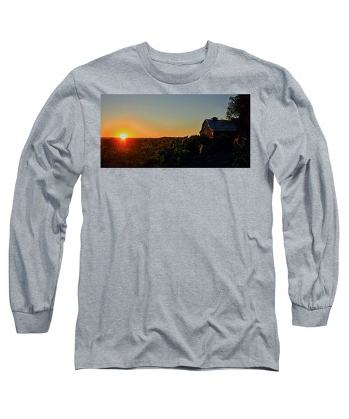 Long Sleeve T-Shirt featuring the photograph Sunrise On The Farm by Chris Berry
