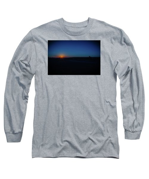 Sunrise On The Reservation Long Sleeve T-Shirt by Mark Dunton