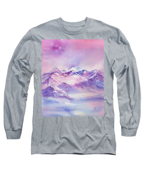 Swiss Mountains Early Morning Long Sleeve T-Shirt