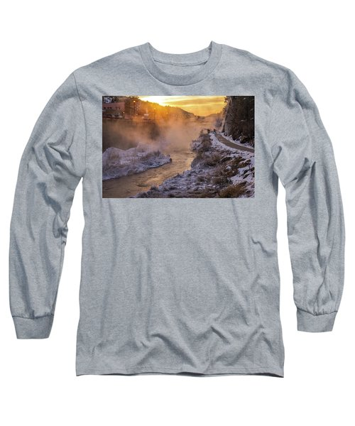 Long Sleeve T-Shirt featuring the photograph Sunrise Over The Fall River by Bill Gabbert