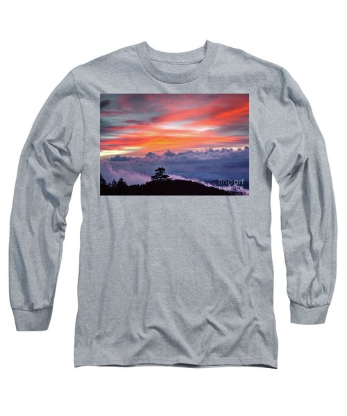 Long Sleeve T-Shirt featuring the photograph Sunrise Over The Smoky's II by Douglas Stucky