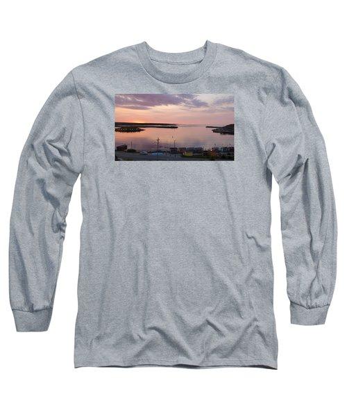 Long Sleeve T-Shirt featuring the photograph Sunrise Port Aux Basque, Newfoundland  by Joel Deutsch