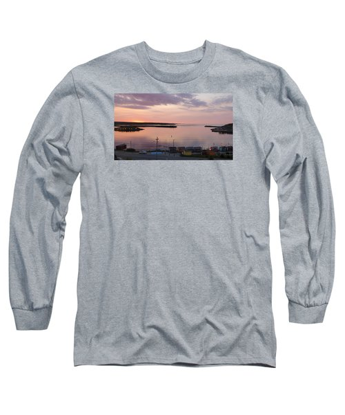 Sunrise Port Aux Basque, Newfoundland  Long Sleeve T-Shirt