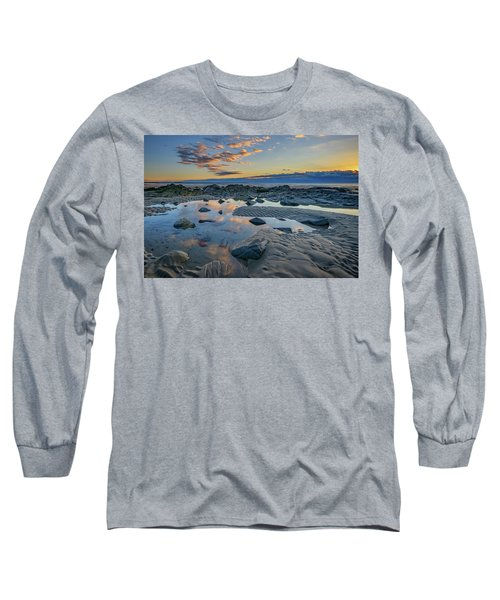 Long Sleeve T-Shirt featuring the photograph Sunrise Reflections On Wells Beach by Rick Berk