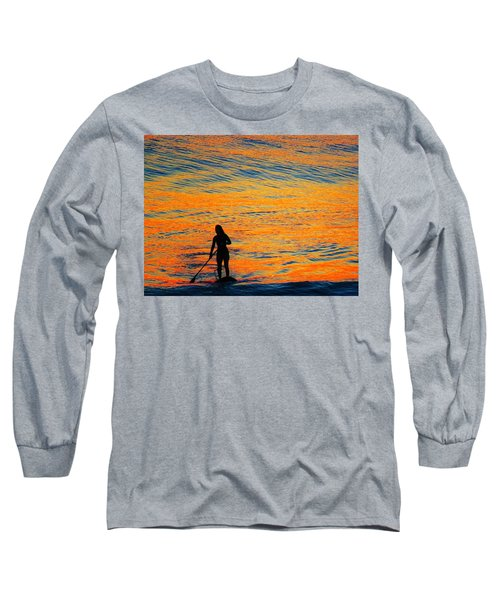 Sunrise Silhouette Long Sleeve T-Shirt by Kathy Long