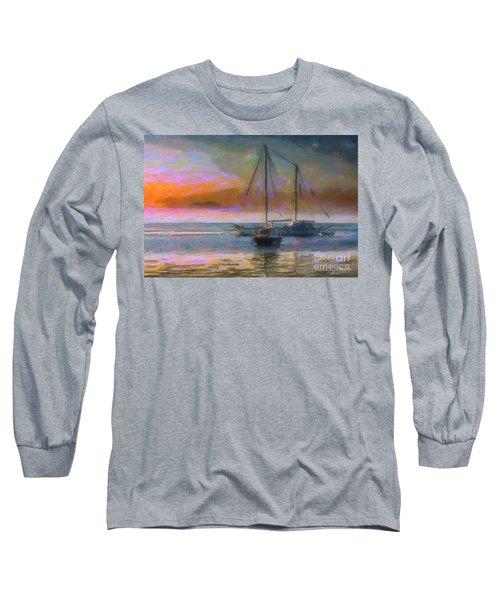 Sunrise With Boats Long Sleeve T-Shirt