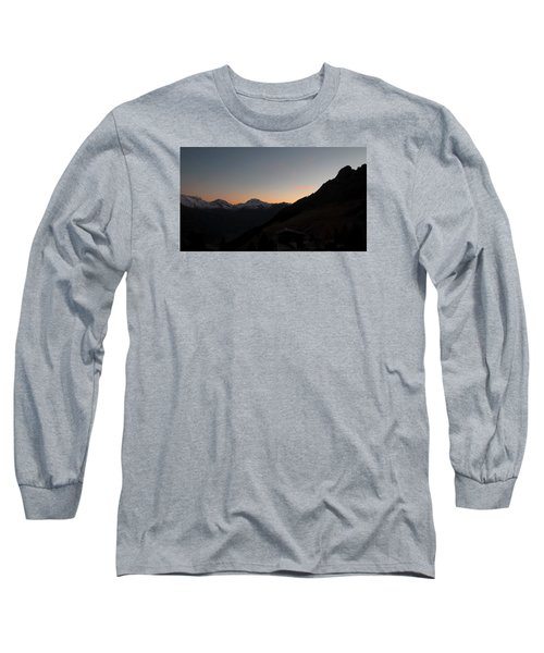 Sunset Afterglow In The Mountains Long Sleeve T-Shirt by Ernst Dittmar