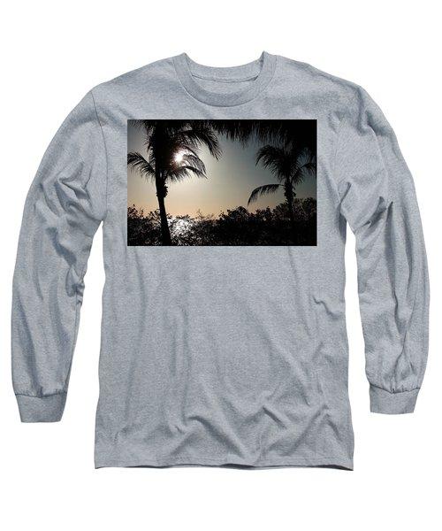 Sunset At Flamingo 1 Long Sleeve T-Shirt by Ellen O'Reilly