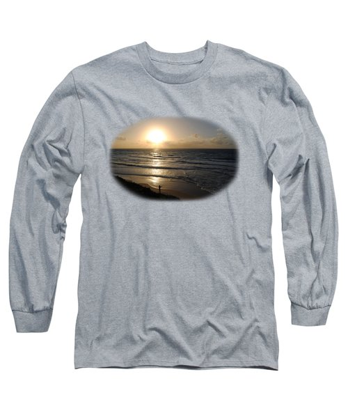 Sunset At Jaffa Beach T-shirt Long Sleeve T-Shirt by Isam Awad