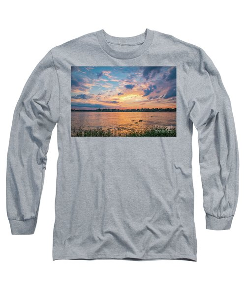 Sunset At Morse Lake Long Sleeve T-Shirt