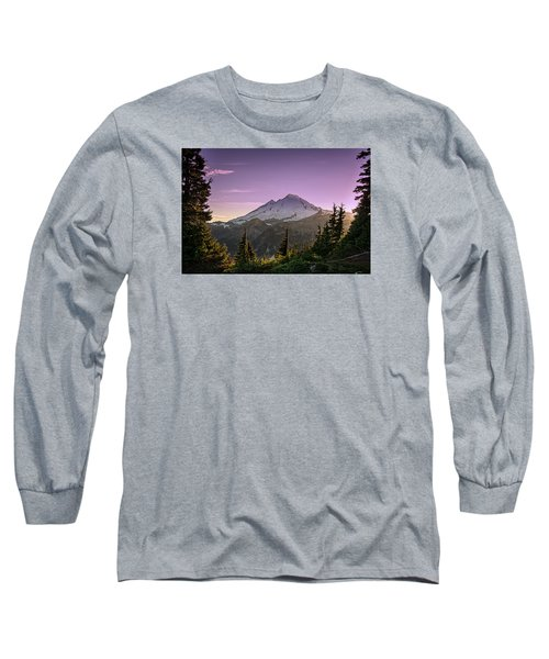Sunset At Mt. Baker Long Sleeve T-Shirt