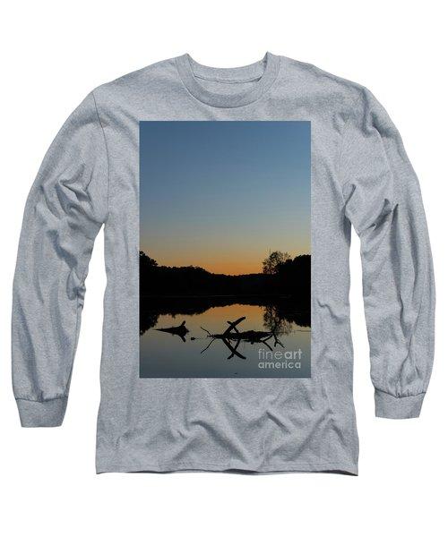 Sunset At Paulinskill Lake Long Sleeve T-Shirt by Nicki McManus