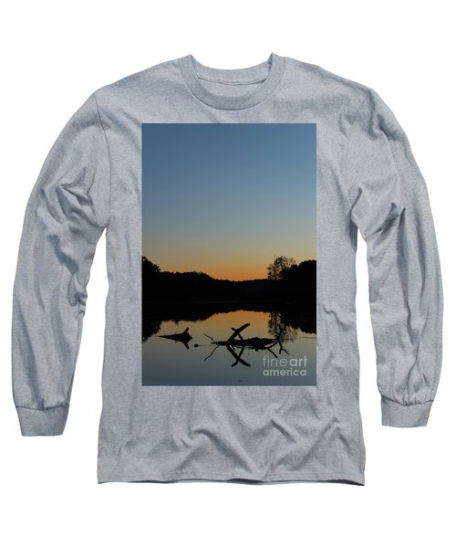Sunset At Paulinskill Lake Long Sleeve T-Shirt