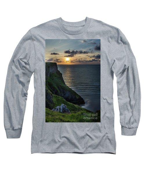 Sunset At Rhossili Bay Long Sleeve T-Shirt