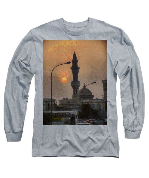 Sunset At Seeb Long Sleeve T-Shirt