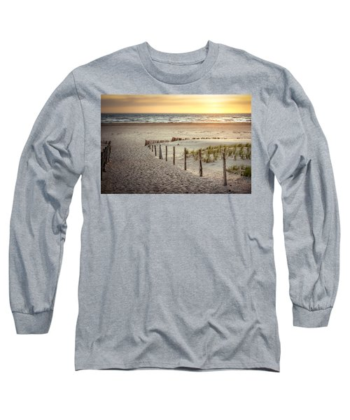 Long Sleeve T-Shirt featuring the photograph Sunset At The Beach by Hannes Cmarits
