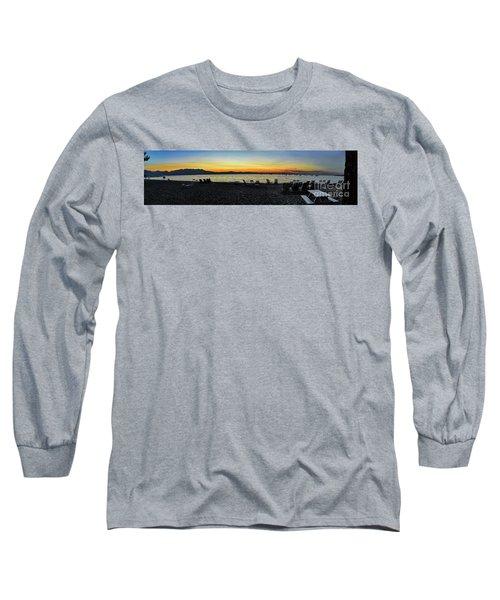 Sunset At The Lake Long Sleeve T-Shirt