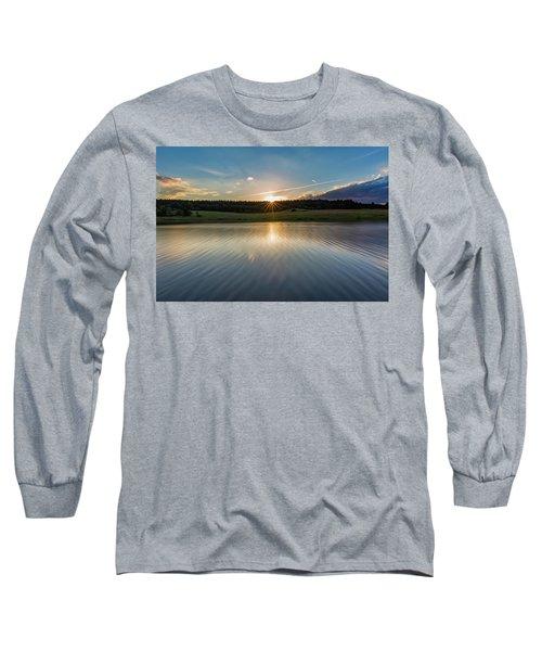 Sunset At The Mandelholz Dam, Harz Long Sleeve T-Shirt
