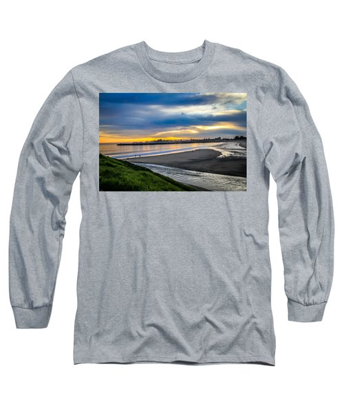 Long Sleeve T-Shirt featuring the photograph Sunset At The Rivermouth by Lora Lee Chapman