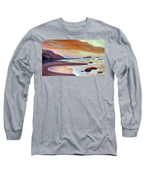 Sunset Beach Long Sleeve T-Shirt by Michael Rock