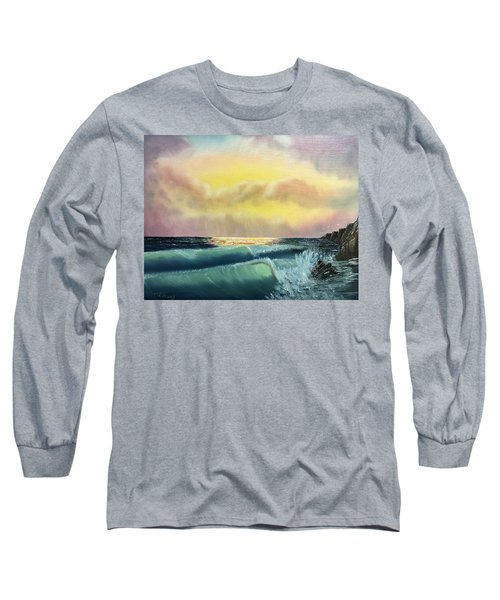 Sunset Beach Long Sleeve T-Shirt by Thomas Janos