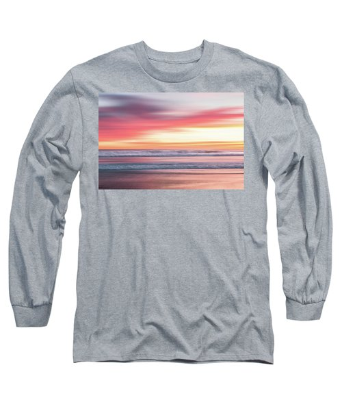 Sunset Blur - Pink Long Sleeve T-Shirt