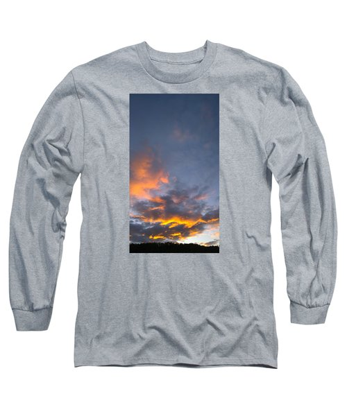 Long Sleeve T-Shirt featuring the photograph Sunset Cloud Scape Over Bryson City Nc by Kelly Hazel