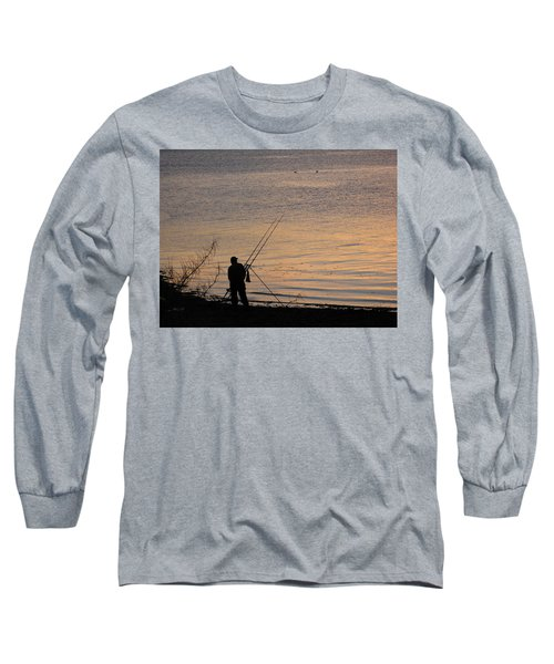 Sunset Fishing On The Loch Long Sleeve T-Shirt